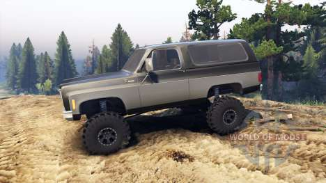 Chevrolet K5 Blazer 1975 black and silver para Spin Tires