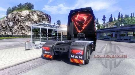 La piel del Hombre De Acero en el camión MAN para Euro Truck Simulator 2