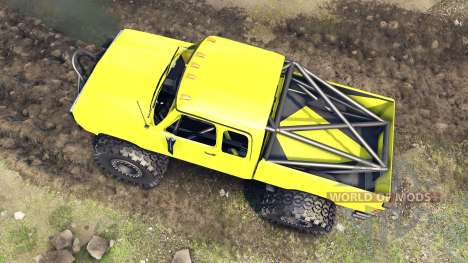 Dodge D200 yellow para Spin Tires