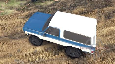 Chevrolet K5 Blazer 1975 blue and white para Spin Tires