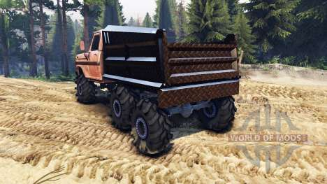 Ford F-100 6x6 v2.0 rusty para Spin Tires