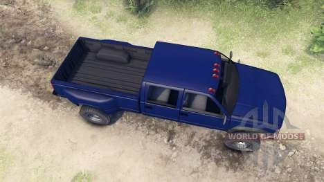 GMC Suburban 1995 Crew Cab Dually blue para Spin Tires