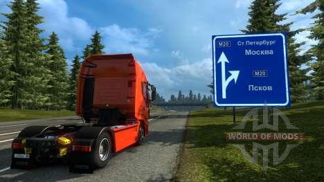 Rusia Mapa - Orient Express para Euro Truck Simulator 2