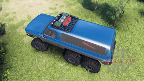 Chevrolet K5 Blazer 1975 Equipped blue and black para Spin Tires