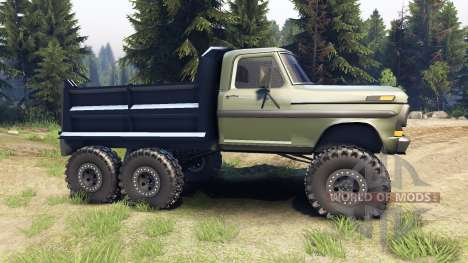 Ford F-100 6x6 v1.1 para Spin Tires