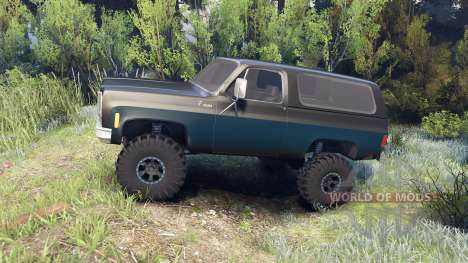 Chevrolet K5 Blazer 1975 black and blue para Spin Tires