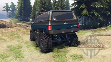 Chevrolet K5 Blazer 1975 Equipped black and blue para Spin Tires