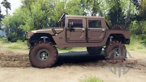 Hummer H1 metalic pewter para Spin Tires