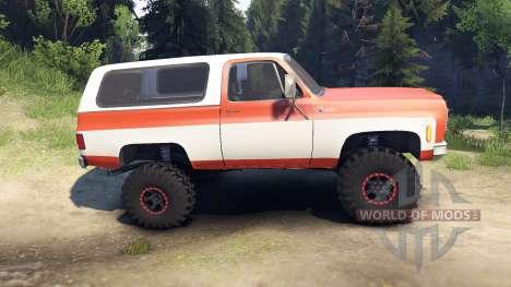 Chevrolet K5 Blazer 1975 orange and white para Spin Tires