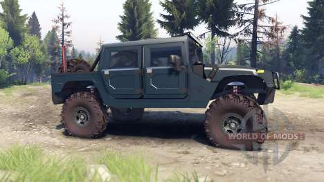 Hummer H1 ocean blue para Spin Tires