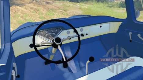 Chevrolet Apache 1959 Fleetside para Spin Tires
