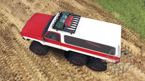 Chevrolet K5 Blazer 1975 Equipped red and white para Spin Tires