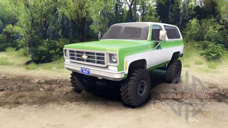 Chevrolet K5 Blazer 1975 green and white para Spin Tires