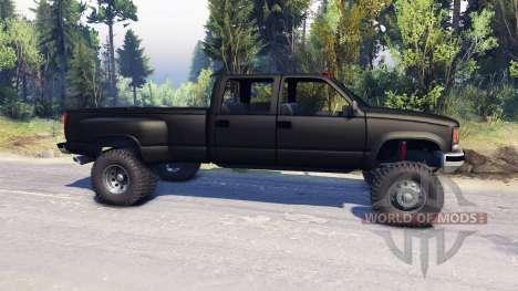 GMC Suburban 1995 Crew Cab Dually black para Spin Tires