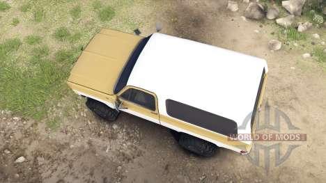 Chevrolet K5 Blazer 1975 light saddle and white para Spin Tires