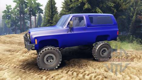 Chevrolet K5 Blazer 1975 v1.5 blue para Spin Tires