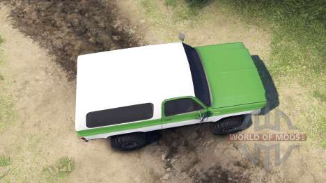 Chevrolet K5 Blazer 1975 green and white para Spin Tires