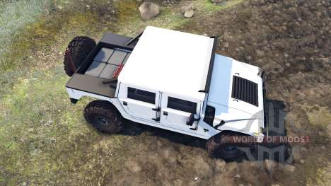 Hummer H1 white para Spin Tires