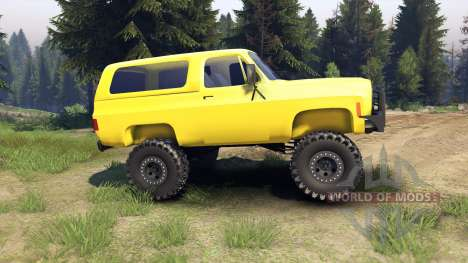 Chevrolet K5 Blazer 1975 v1.5 yellow para Spin Tires