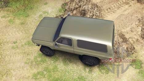 Chevrolet K5 Blazer 1975 army green para Spin Tires