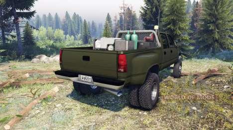 GMC Suburban 1995 Crew Cab Dually green para Spin Tires