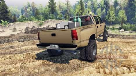 GMC Suburban 1995 Crew Cab Dually tan para Spin Tires