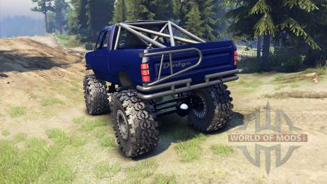 Dodge D200 blue para Spin Tires