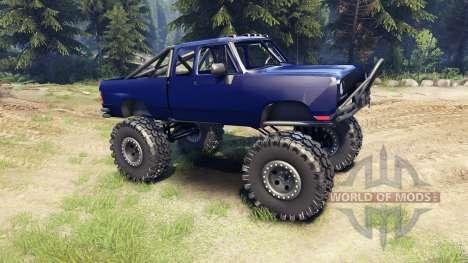 Dodge D200 blue para Spin Tires