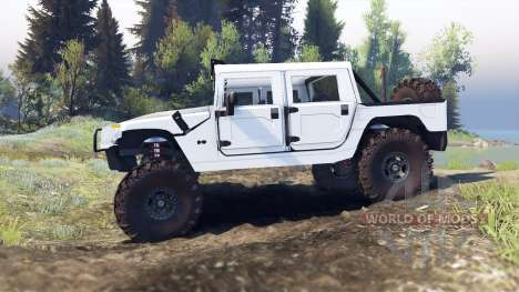 Hummer H1 white para Spin Tires