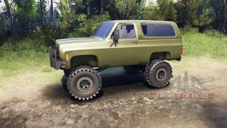 Chevrolet K5 Blazer 1975 v1.5 green para Spin Tires