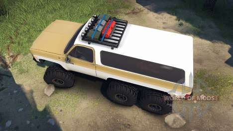 Chevrolet K5 Blazer 1975 light saddle and white para Spin Tires
