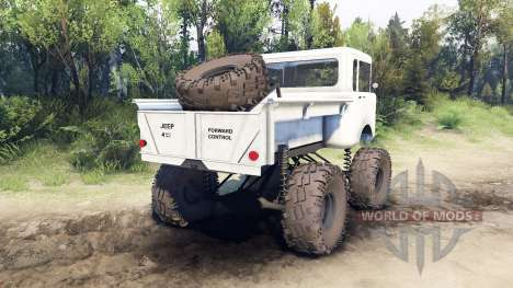 Jeep FC white para Spin Tires
