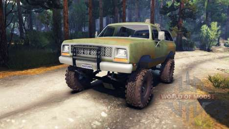 Dodge Ramcharger 1985 v0.1 para Spin Tires