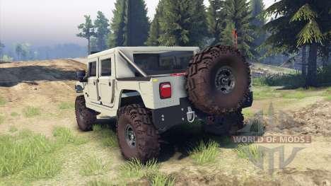Hummer H1 army tan para Spin Tires