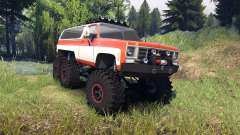 Chevrolet K5 Blazer 1975 6x6 orange and white