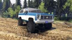 Chevrolet K5 Blazer 1975 blue and white