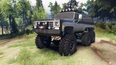 Chevrolet K5 Blazer 1975 6x6 black and silver