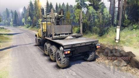 KrAZ-7140 amarillo para Spin Tires