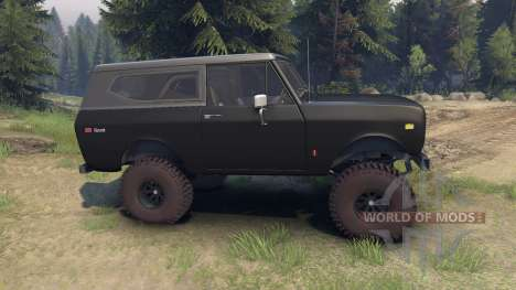 International Scout II 1977 black para Spin Tires