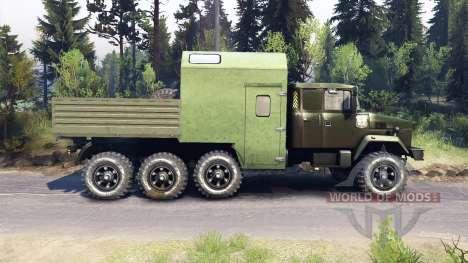 KrAZ-7140 verde para Spin Tires