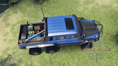 Mercedes-Benz G65 AMG 6x6 Final blue pearl para Spin Tires
