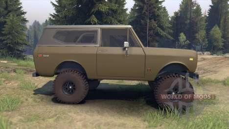 International Scout II 1977 drab green para Spin Tires