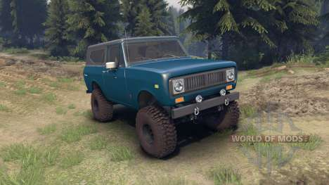 International Scout II 1977 bimini blue poly para Spin Tires