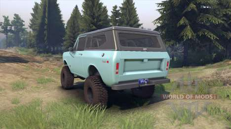 International Scout II 1977 glacier blue para Spin Tires