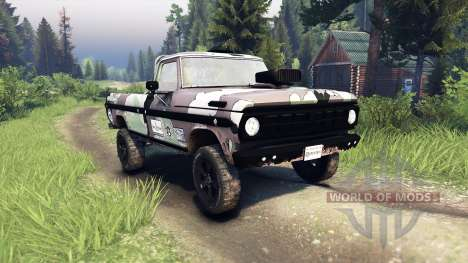 Ford F-100 custom PJ3 para Spin Tires