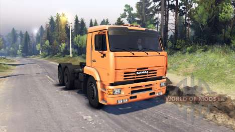 KamAZ-6460 para Spin Tires