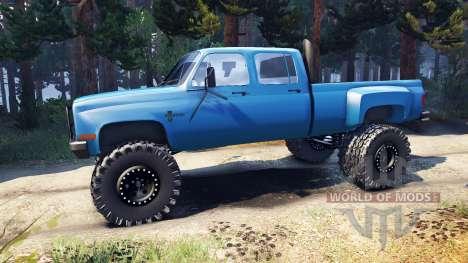 Chevrolet Silverado Dually Crew Cab v1.4 blue para Spin Tires