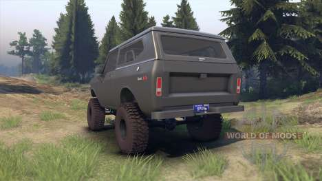 International Scout II 1977 gray para Spin Tires