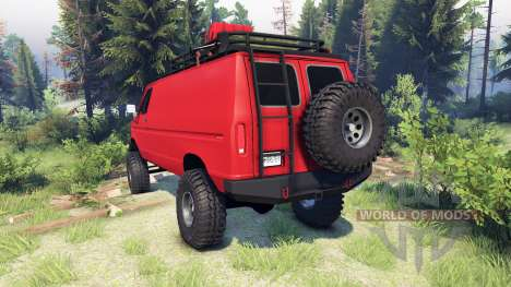 Ford E-350 Econoline 1990 v1.1 red para Spin Tires