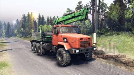 Kraz-7140 orange para Spin Tires